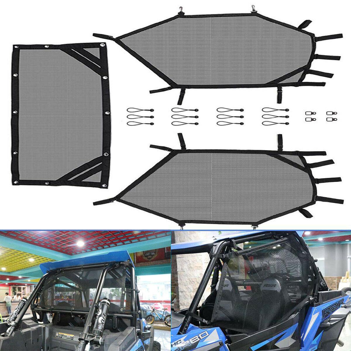 UTV-شبكة نافذة خلفية ويمينية ، مجموعة درع لبولاريس RZR 1000 900 RZR XP لهوندا تالون كاواساكي ميول لياماها Rhino