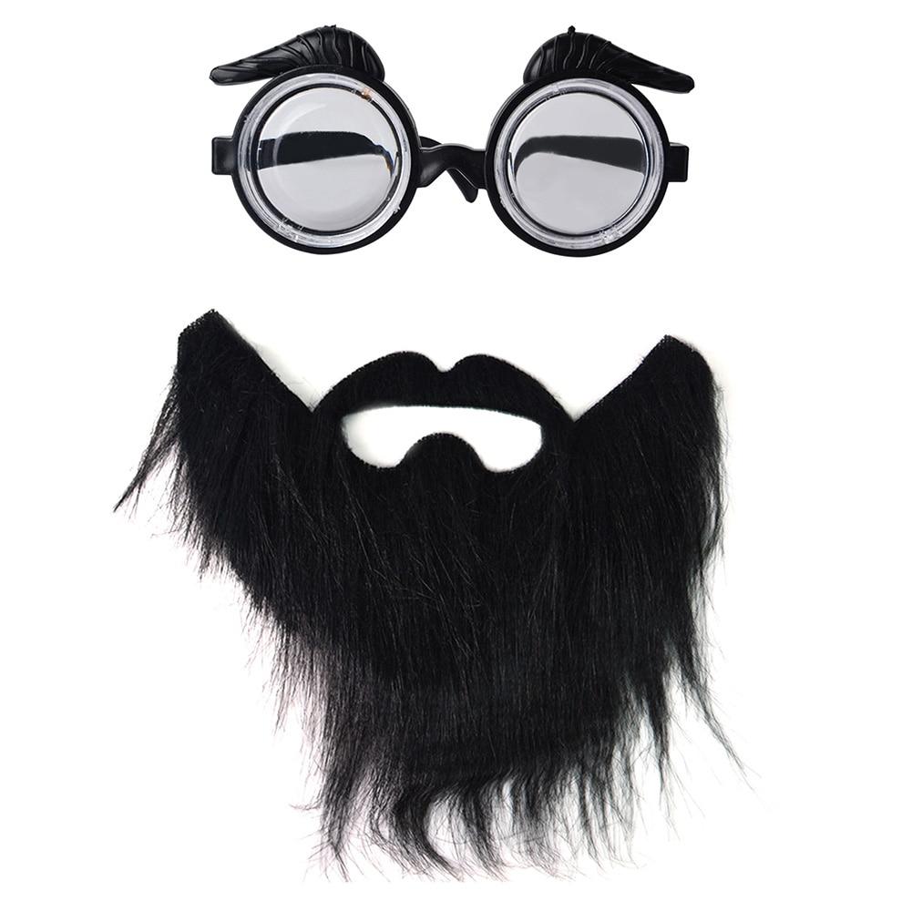 Accesorios de foto Cosplay para hombre, conjunto de gafas de barba de Halloween de moda, banda elástica, disfraz divertido para fiesta de disfraces de adultos
