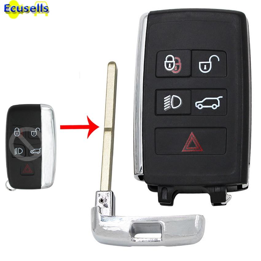 Обновленный чехол для ключа дистанционного управления, умный чехол для ключа с 5 кнопками для Land Rover Range Rover Evoque Sport LR4 LR2 HU101 kпортуtf10a