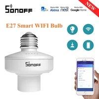 SONOFF     support dampoule WiFi intelligent lampher R2 E27  commutateur 433MHz RF  domotique sans fil avec Alexa Google Home Assistant  1 piece