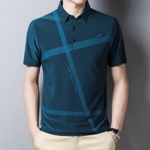 Ymwmhu 2020 New Fahsion Men Polo Shirt Loose Striped Summer Cool Shirt Streetwear Casual Polo Shirt Men Top Clothes Brand