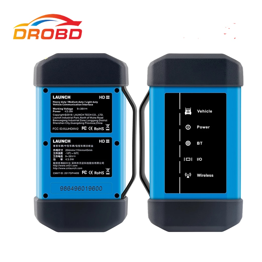 Newest LAUNCH X431 HD Heavy Duty Truck Diagnostic Adapter Work for X431 V+ X431 Pro3 pad ii 2 Software Free Update Online