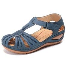 Sandálias femininas 2020 novos sapatos de verão mulher macio inferior cunhas sapatos para mulher sandálias plataforma salto gladiador sandalias mujer