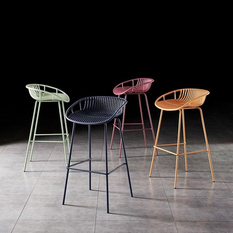 4 шт. скандинавские кованые барные стулья, современные минималистичные барные стулья, барные стулья, высокие барные стулья, уличные домашни...