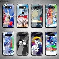 captain tsubasa phone case tempered glass for samsung s20 plus s7 s8 s9 s10 note 8 9 10 plus