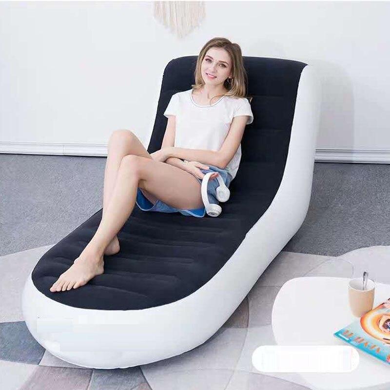 الحديث مقعد واحد المحمولة أريكة قابلة للنفخ عالية الجودة واحدة في الهواء الطلق سرير بحديقة حصير بسيط للطي مقعد كسول كرسي