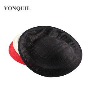Ivory Craft Hats 30cm Imitation Sinamay Base Headwear Cocktail Hat Fascinator Wedding DIY Hair Accessories Occasion Headpiece