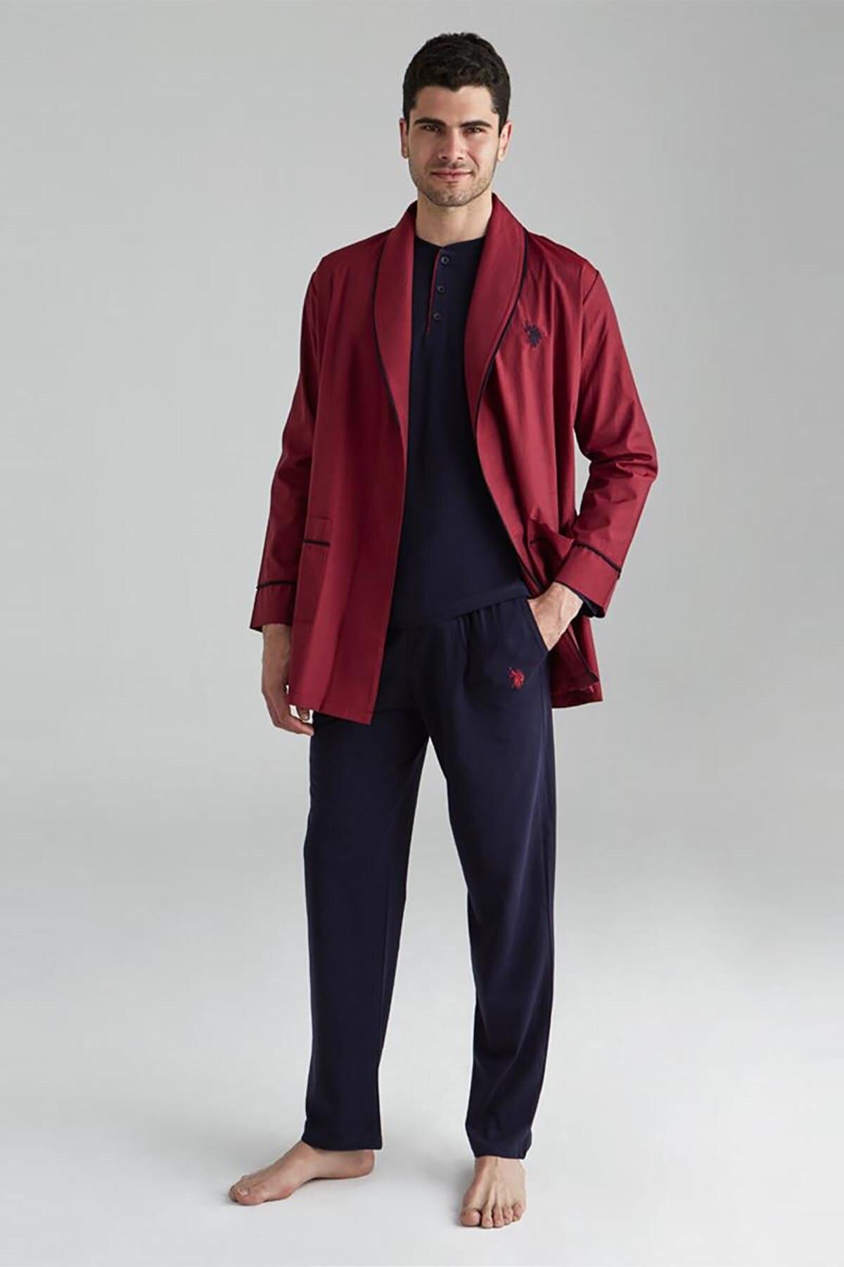 Мужская Ночная рубашка, длинная ночная рубашка, пижамный комплект, хлопковое домашнее белье, удобное нижнее белье, мужское удобное нижнее б...