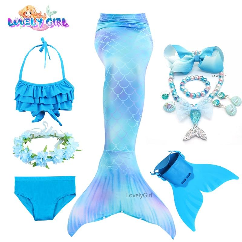LovelyGirl Children's Mermaid tails Mermaid ainime bikinis Costume Cosplay Children Swimsuit Fantasy