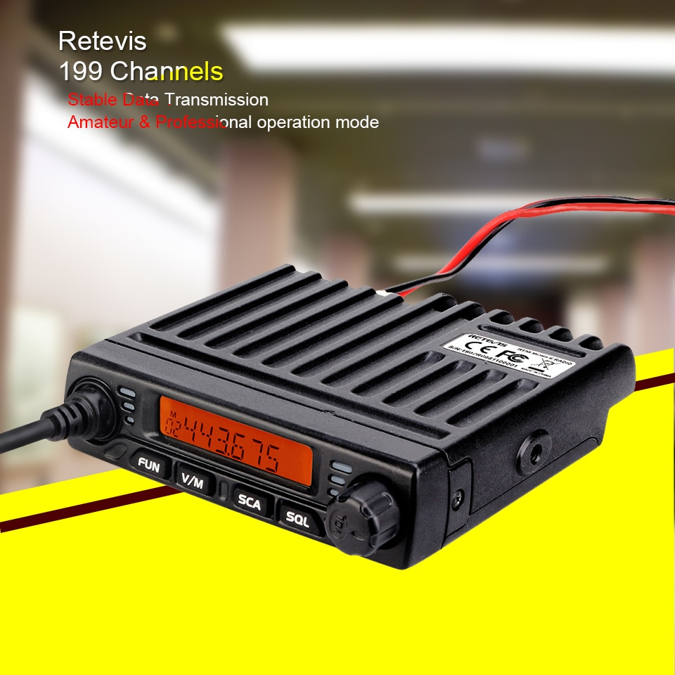 Car Walkie Talkie Radio Station RETEVIS RT98 VHF ( or UHF) 15W Car Mobile Radio Car Two-Way Radio Ham Radio Transceiver Truckers enlarge