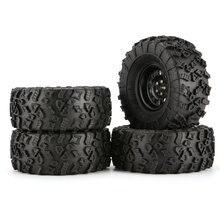 4 шт. 130 мм 2.2in резиновые шины с сплавом Beadlock Обода Колеса для осевого SCX10 90046 RC4WD D90 1/10 RC Рок Гусеничный автомобиль