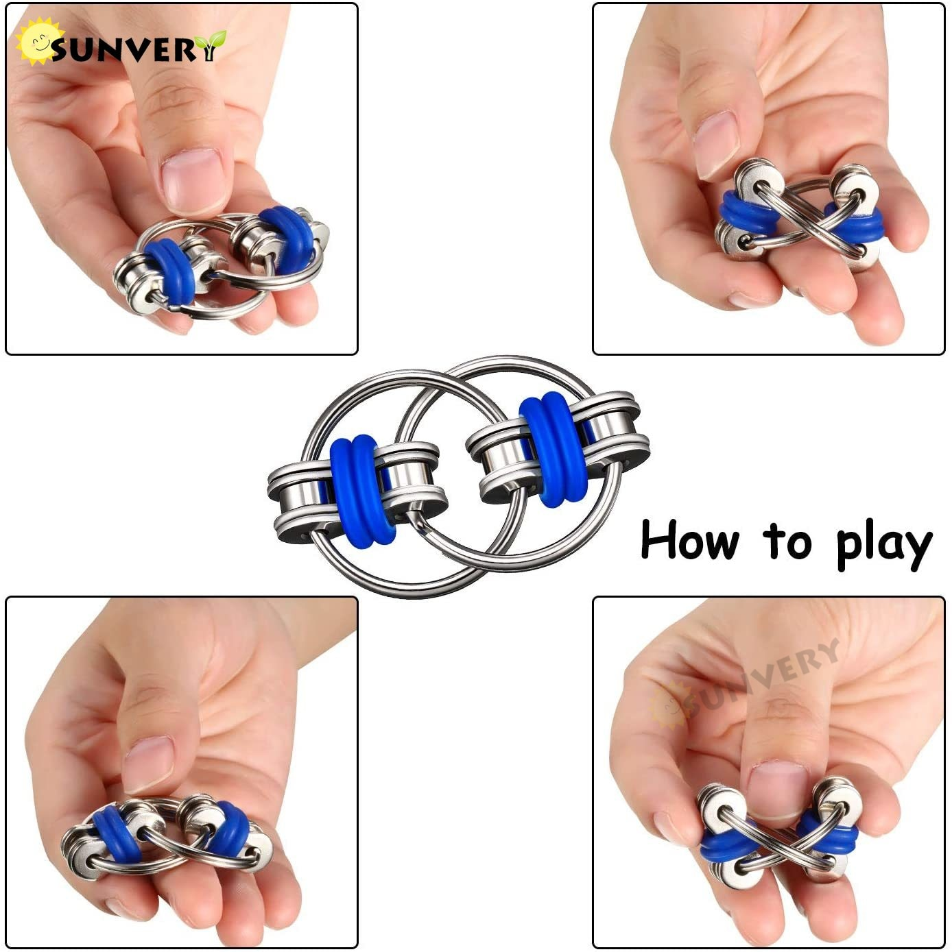 3/6 PCS Fidget Toys Package Figet Key Infinity Cube Flippy Chain Fidget Pad Bike Chain Fidget Toy Cube for Autism Anxiety Relief enlarge