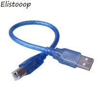 Câble USB 2.0 Transparent haute vitesse pour imprimante et Scanner de données, cordon de Type A mâle vers Type B mâle, double blindage, 0.3M 1M 1.4M 3M 5M