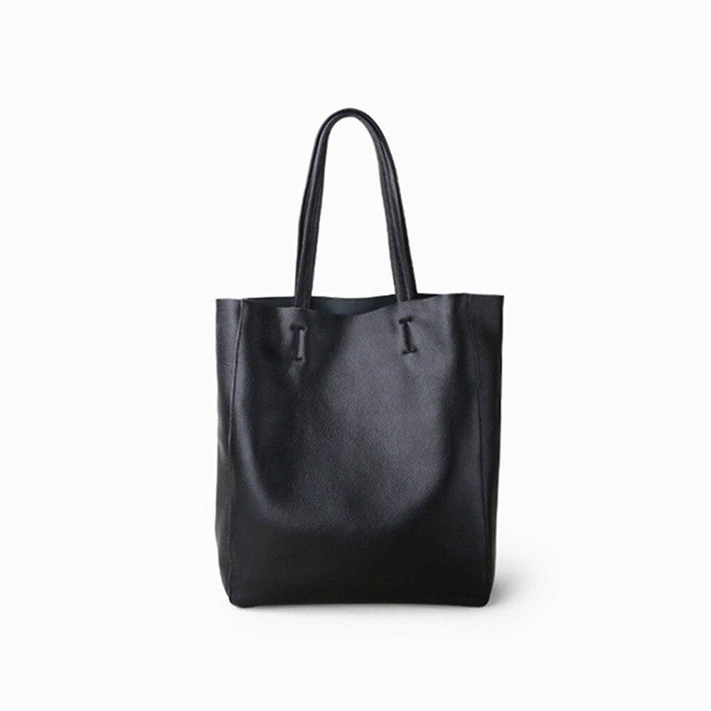 حقيبة يد من الجلد الطبيعي للنساء ، حقيبة حمل ، جلد البقر عالي الجودة ، حقيبة كتف كبيرة السعة ، محفظة