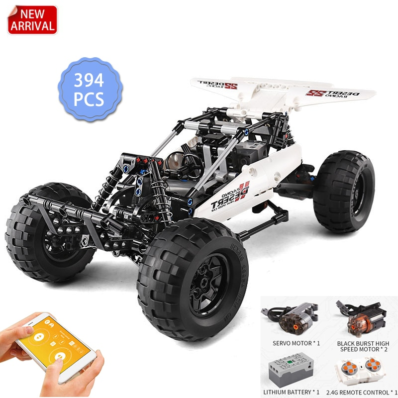 Compatible MOC Building Blocks Remote control Car Off-road Vehicle APP Programming RC Technical   Electric Toys for Children Gif