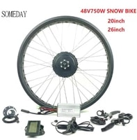 someday 48v 750w ebike fat front wheel gear hub motor with lcd3 display electric bicycle snowbike 20 26 inch