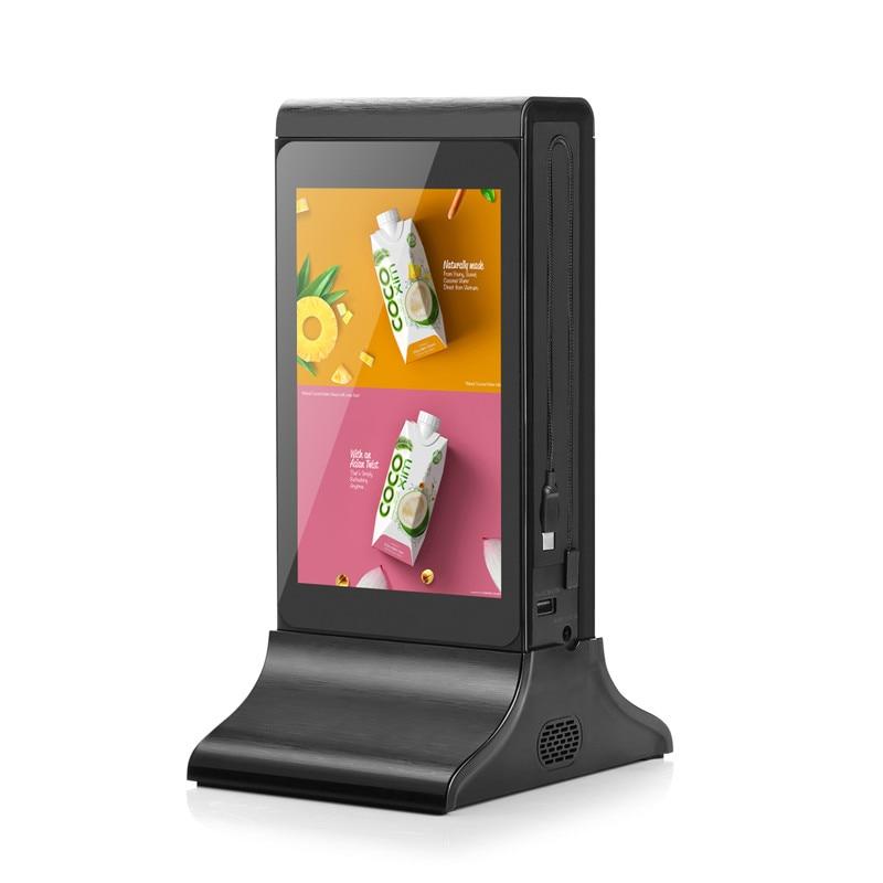 20800mah wifi publicidade display digital power bank mesa carregador do telefone móvel para o restaurante