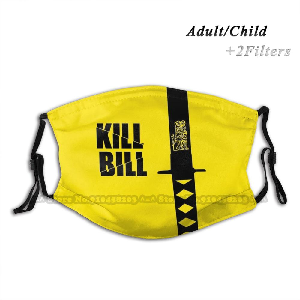 kill-bill-sword-yellow-and-black-print-reusable-mouth-mask-washable-filter-anti-dust-face-mask-kill-bill-tarantino-quentin