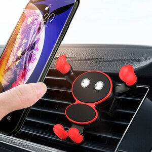 Gravity Car Mount For Mobile Phone Holder For iPhone12 GPS Mount In Car Air Vent No Manget Stand For  Mini Xiaomi Huawei Samsung