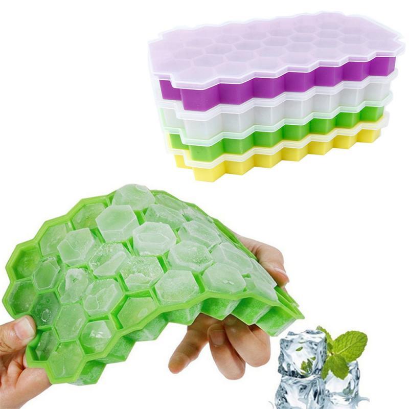 37 würfel Küche Ice Cube Tray Sommer Waben Form Ice Cube Ice Tray Ice Cube Mold Lagerung Container Getränke Formen