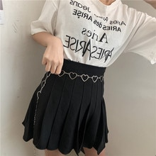 Love Waist Women's Belt Decorative Fashionable All-Match Metal Chain Korean Style Dress Sweet and El