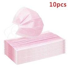 200 ПК маска для лица защитные перчатки маска для лица на крышка на открытом воздухе ты слишком близко рот фильтр маски одноразовые защитные розовый Mascarillas