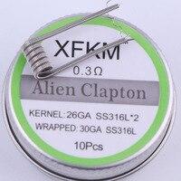 Плоский скрученный провод XFKM A1/316, готовые провода Alien Mix twisted Quad катушки Tiger, сопротивление нагреву спираль rda