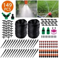 149pcs garden irrigation system drip watering 15m plant watering kit saving system adjustable nozzle drippers greenhouse patio