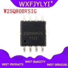 10 개/몫 W25Q80BVSIG 25Q80BVSIG 25Q80BVSSIG W25Q80 BVSIG 25Q80 SOP8 100% 칩은 좋은 품질의 IC