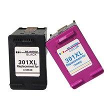Remanufacturado HP 301XL 301 XL Cartuchos de tinta nègre y tricolore par HP Deskjet 1000 1010 1050 1050A 1510 2050 2050A 2540