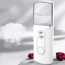 3In1 Handy Facial Steamer Nano Mister Face Spray Bottle Mist Sprayer Skin Moisture Meter Power Bank Portable USB Rechargeable