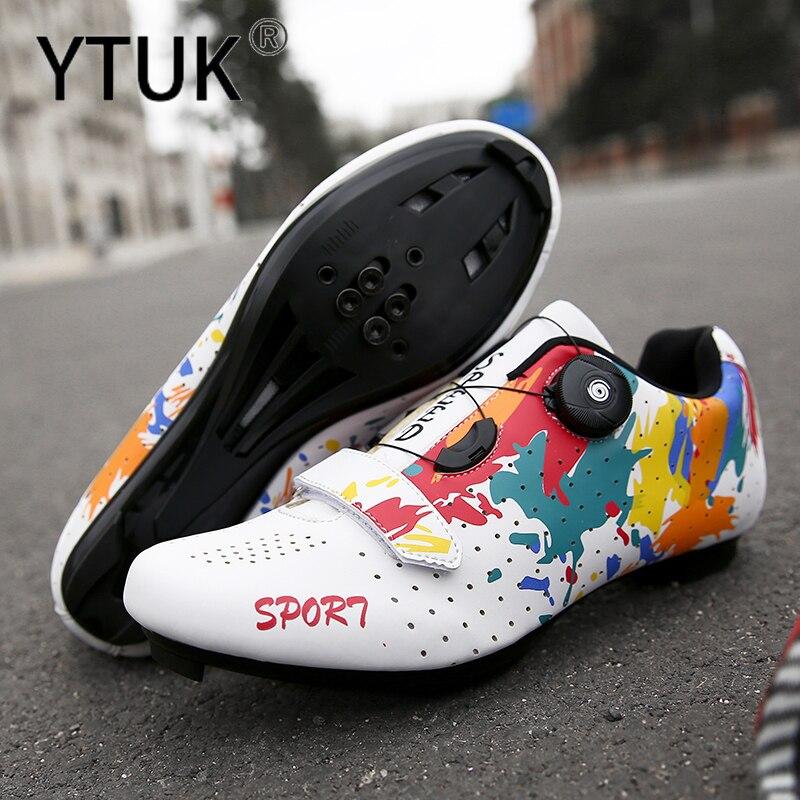 YTUK, zapatos de ciclismo para hombre, zapatos de MTB con bloqueo automático, zapatos de bicicleta de carretera para hombre, zapatillas de carrera para bicicleta, triatlón, sapatilha ciclismo mtb