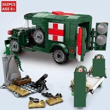 262 шт. Военная T214-WC54 машина скорой помощи Империя стальных строительных блоков наборы армейских игр солдатики Кирпичи Детские игрушки