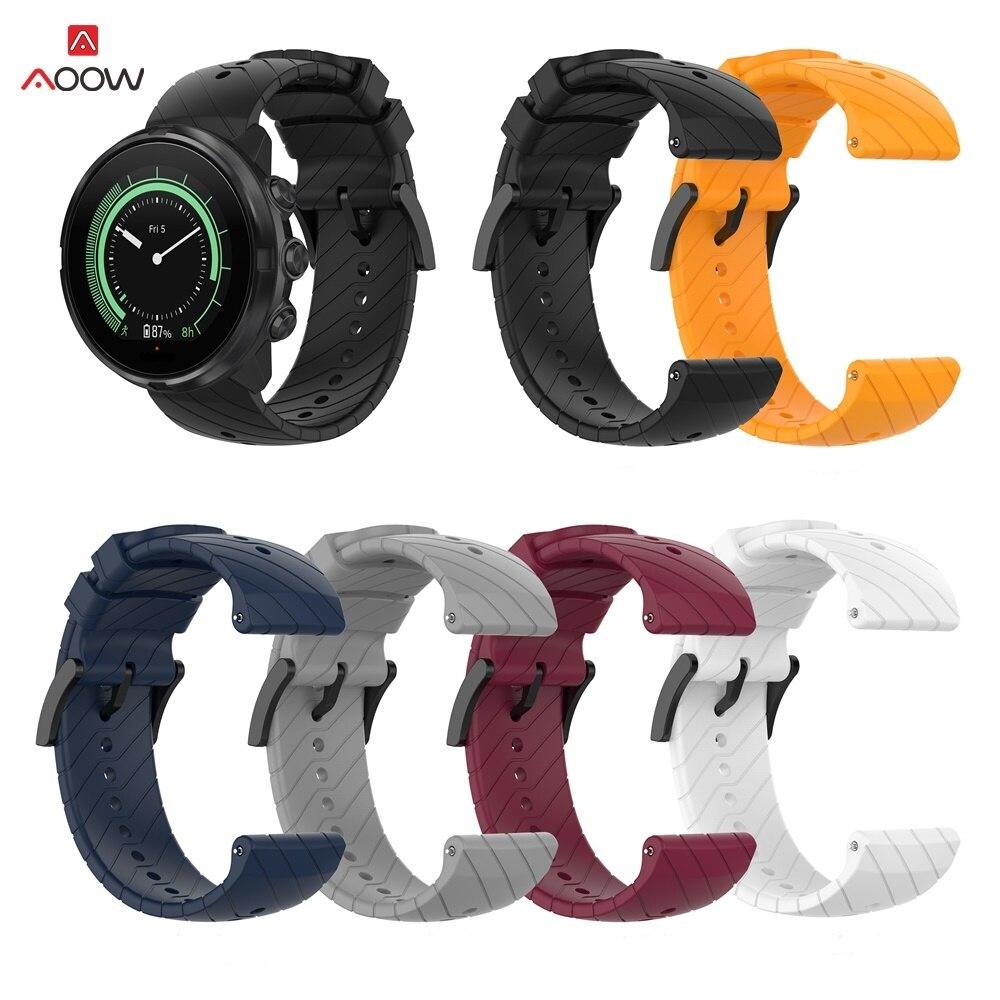 Soft Silicone Replacement Band Strap for Suunto 9/9 Baro Suunto Spartan Sport Watch Bracelet Strap Watch Wrist Belt