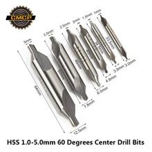 Forets centraux HSS, mèche à fraise à 60 degrés, 1mm, 1.5mm, 2mm, 2.5mm, 3.5mm, 5mm, outils électriques, foret métallique