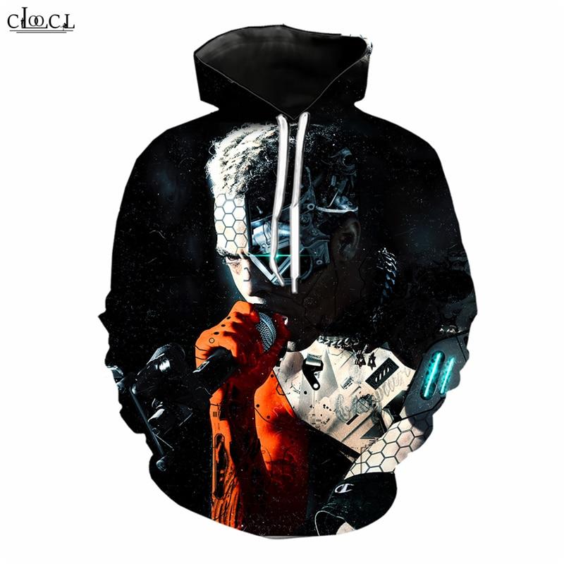 DJ Singer Xxxtentacion Sudadera con capucha hombres mujeres impresión 3D estrella de Hip Hop sudaderas de cantante Harajuku Streetwear Asia tamaño S-5XL Tops B281