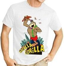 Magilla Gorilla King Kong Funny Cartoon White T-Shirt Ricochet Rabbit S-3Xl Birthday Gift Tee Shirt
