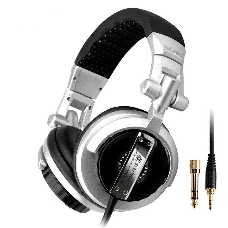 سنسيك ST-80 المهنية ستيريو استوديو رصد سماعة 3.5 مللي متر 6.3 مللي متر جاك DJ سماعة 2.5 متر تمديد الحبل ألعاب سماعة ل DJ