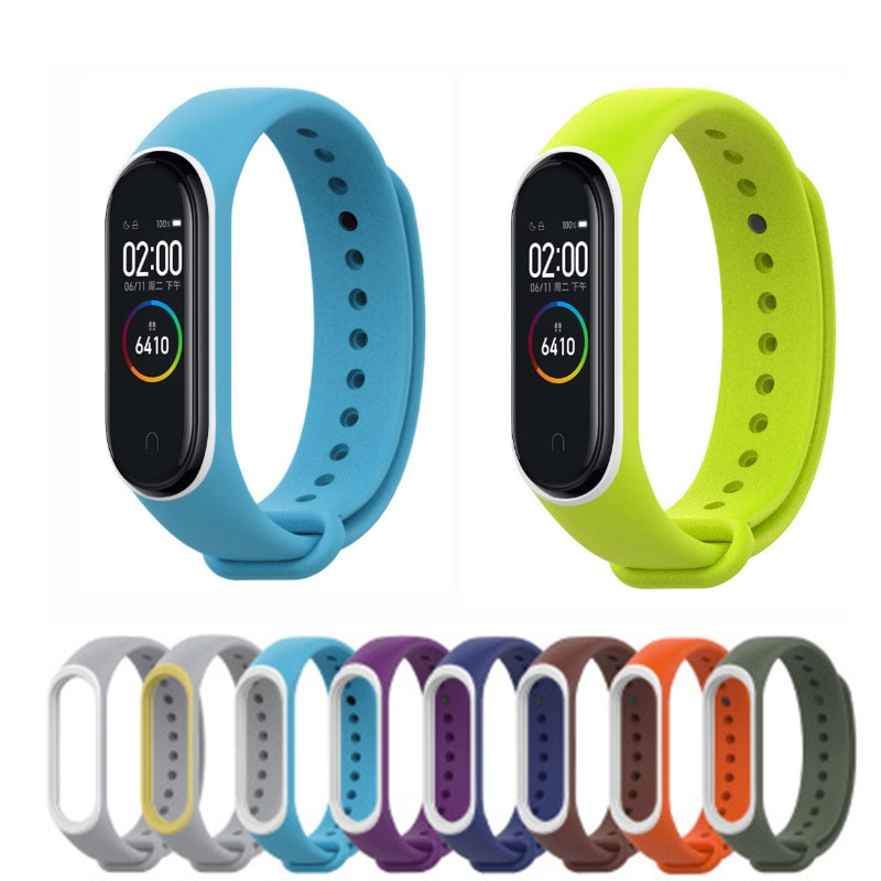 Watch Strap For XIAOMI MI Band 4 Band Rubber Wrist Strap WristBand Soft Replacement Bracelet For XIAOMI MIBand 4 Miband 3 Strap for xiaomi mi band 2 strap miband 2 strap bands colorful starry sky all stars splash soft rubber silicone watch straps bands new