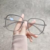 2021 тенденции антибликовыми свойствами светильник Крупногабаритные очки компьютерные Для женщин синие блокирующие игровой мужские Transparen о...