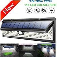 Уличная Светодиодная лампа на солнечной батарее, водонепроницаемый садовый светильник с пассивным ИК датчиком движения, настенный светиль...