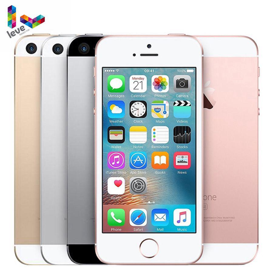 Promo Used Unlocked Apple iPhone SE Dual Core 4G LTE Smartphone Sealed Box 2GB RAM 16/32/64GB ROM Fingerprint Touch ID Cell Phone