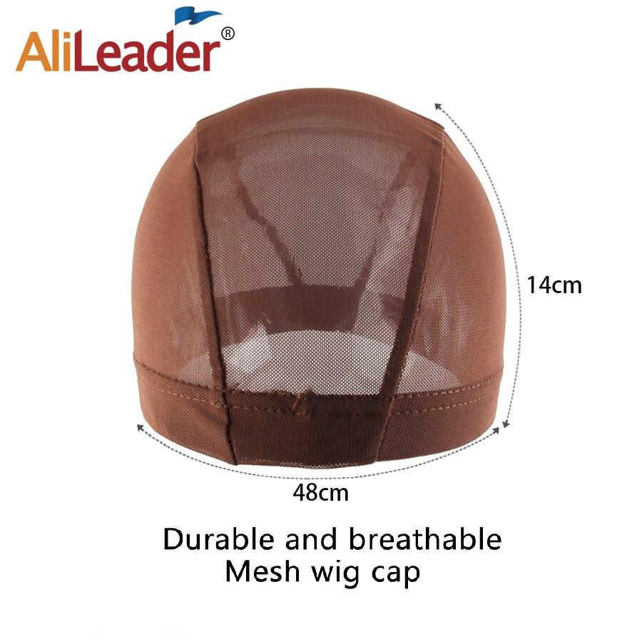 Alileader Brwon, tapa de cúpula de malla negra, marrón, negra, suministro de fábrica, gorra de lycra, peajes de peluca, tapa de tejido de red de Pelo elástico para hacer una peluca