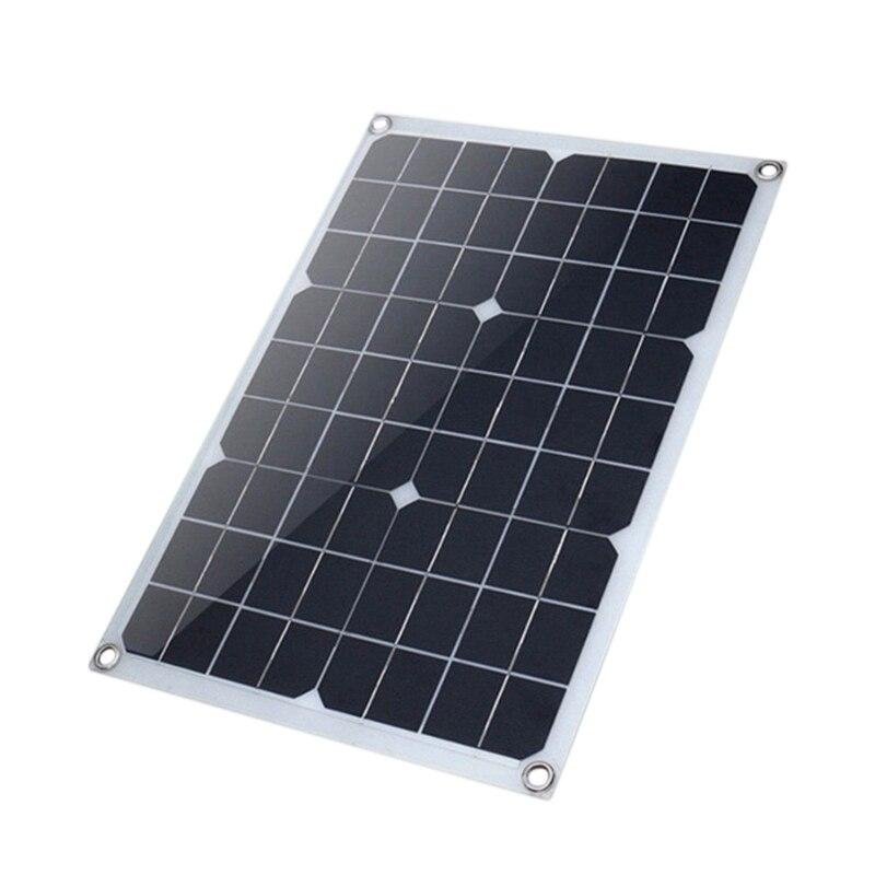 20 واط 18 فولت أحادية البلورية الشمسية لوحة كهروضوئية صديقة للبيئة المحمولة الشمسية شحن لوحة لوحة طاقة شمسية