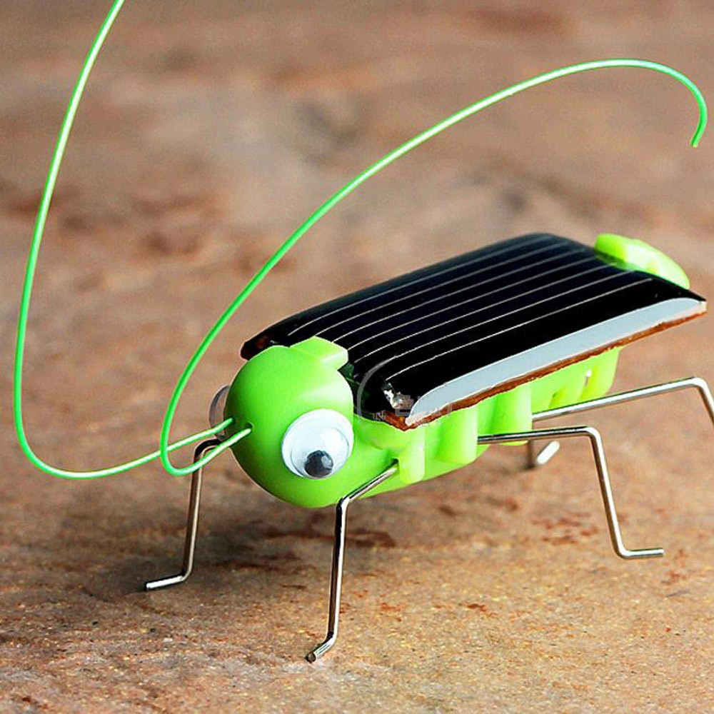 Solar grasshopper Educational Solar Powered Grasshopper Robot Toy required Gadget Gift solar toys No batteries for kids D30823