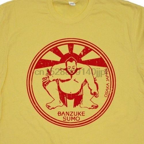 Tops T camisa sumo japonés T camisa Japón arte Club Retro gimnasta Wwf Karate chico T o-Cuello Camiseta Hombre