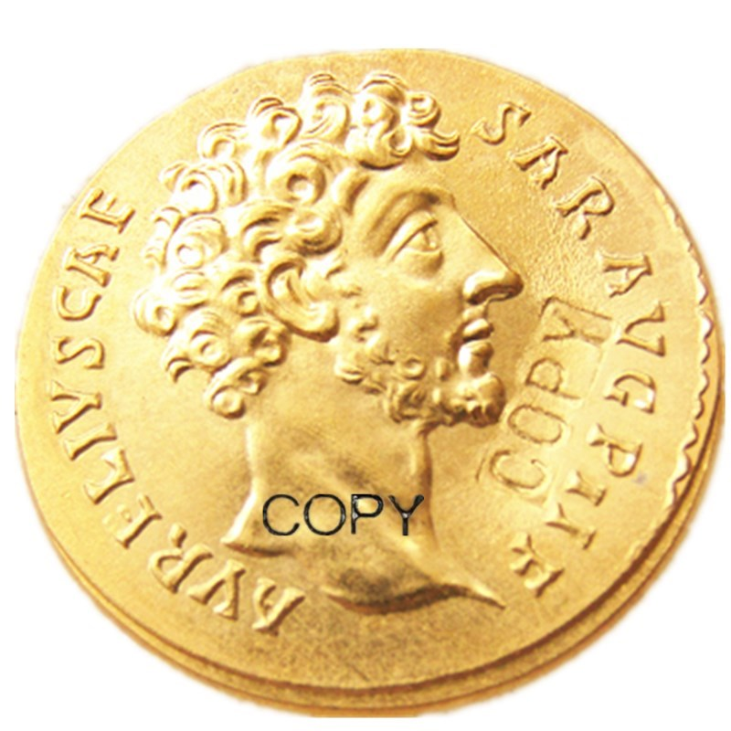 Monedas de copia chapadas en oro antiguo romano (18)