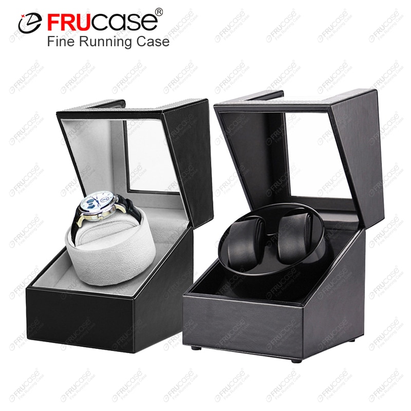 [Newly Upgraded] FRUCASE PU Watch Winder for automatic watches watch box 1-0 / 2-0