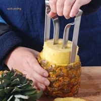 pineapple corer stainless steel pineapple corer peeler quick pineapple cutter kitchen fruit tool easy to use and clean