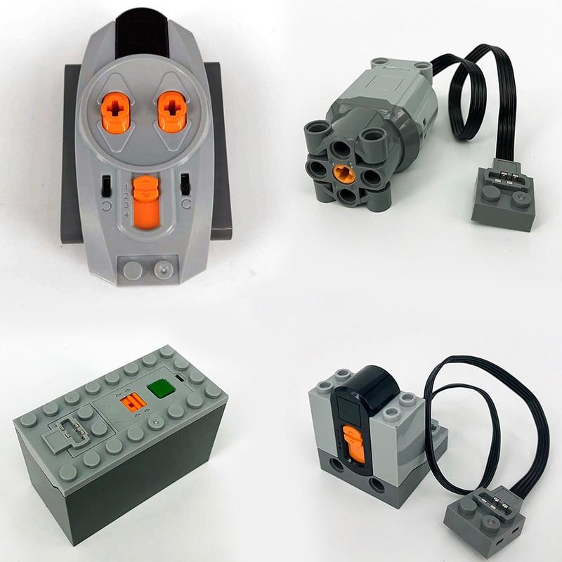 Power Function Legoing Technic Train Servo Motor M-Motor XL-Motor L-Motor ev3 Speed Remote Control Building Blocks toys for Boy